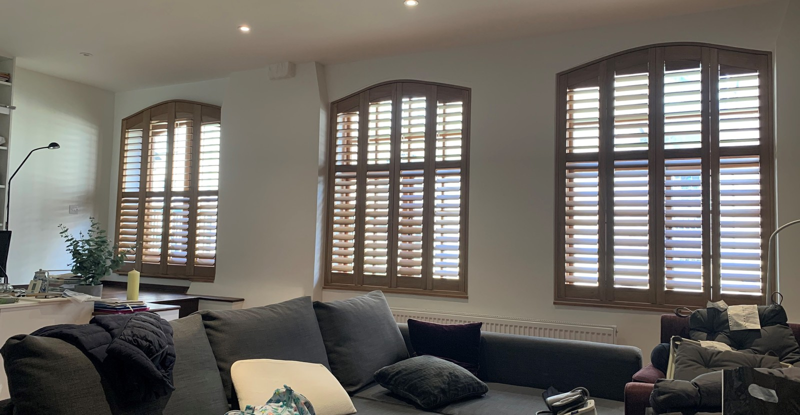 Unusually Shaped Plantation Shutters